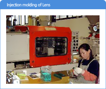 Injection molding of Lens